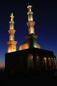 A local mosque at sunset. Photo by Bob Haynes.