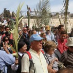 Pilgrims on Palm Sunday.