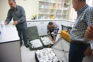 Delivering donated medicines to Gaza Community Mental Health Programme