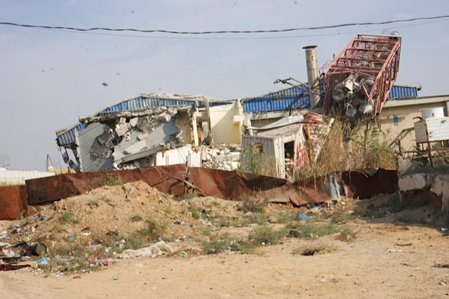 Juice factory destroyed in 2014 (near border with Israel)